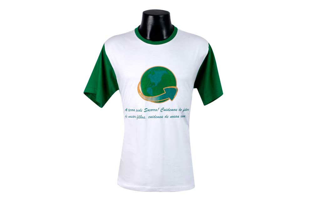 Camiseta Gola Careca PRY45